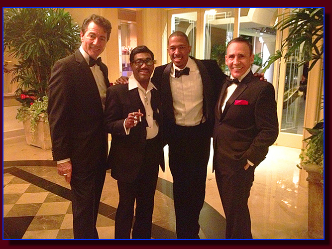 The Rat Pack impersonators with Nick Cannon