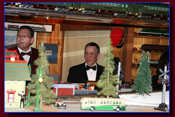 Frank Sinatra's model train collection.