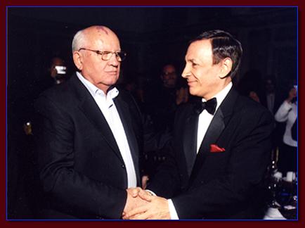 Monty Aidem and Mikhail Gorbachev