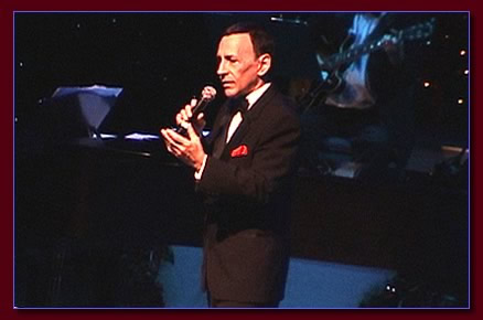 Monty Aidem as Frank Sinatra in concert